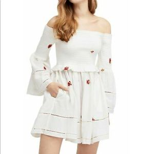 Free People Off the Shoulder White Dress